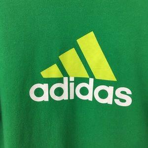 Adidas XL green yellow white logo